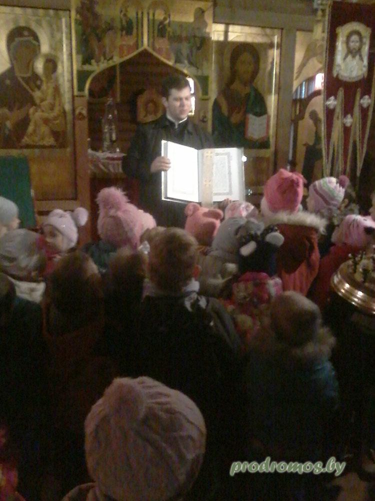 дети из ясли сада № 77 в нашем храме