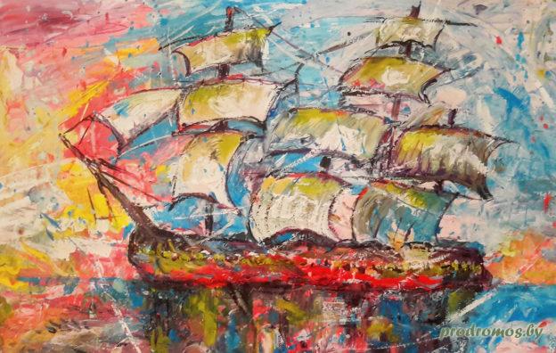 """""""Корабль"""". Рисунок Савельевой Нади, 7 лет"""