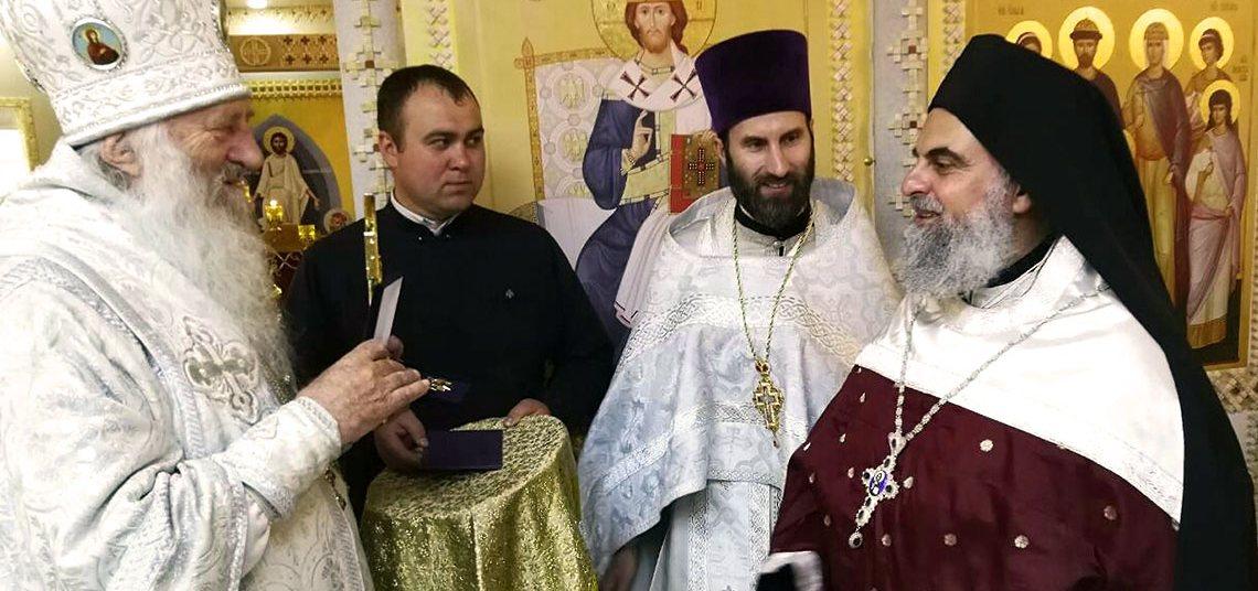 Освящение нижнего храма в честь святых Царственных страстотерпцев д. Яглевичи